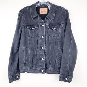 Levi's Black Jean Long Sleeve Jacket Size Large